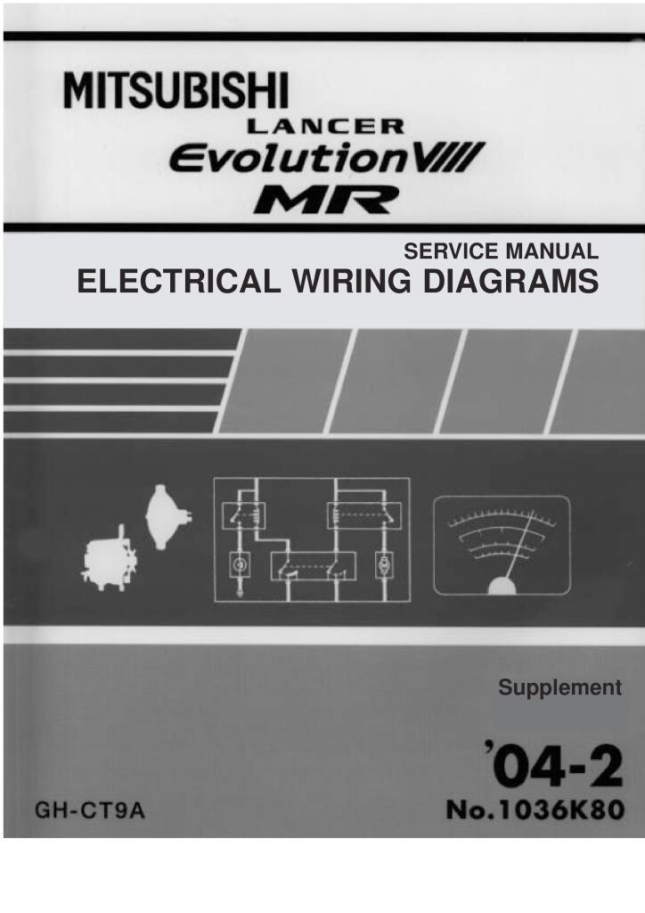 Lancer Evolution 8 Electrical Wiring Diagram Pdf  1 21 Mb