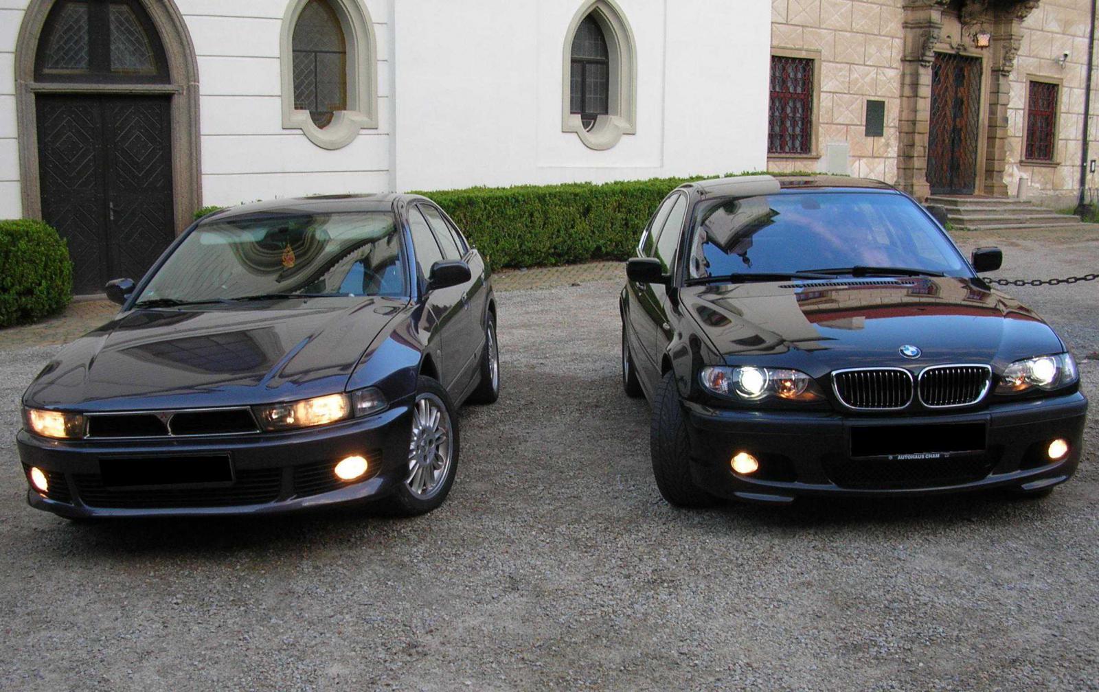 Galant a E46, kamarádovo BMW